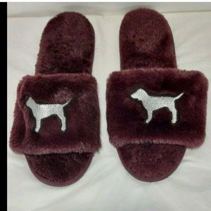 NWOT BLING Victoria Secret PINK Dog Slippers 9/10